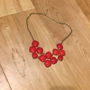 Charming Charlie red and gold necklace